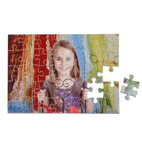 Kartonpuzzle rahmenlos, Größe 190 x 280 x 2 mm, 35 Teile