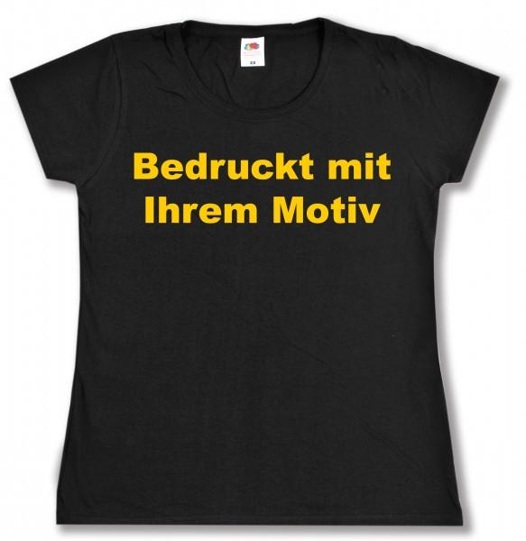 Ladies' Valueweight - tailliertes Tshirt - schwarz