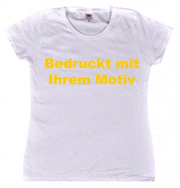 Ladies' Valueweight - tailliertes Tshirt - weiß