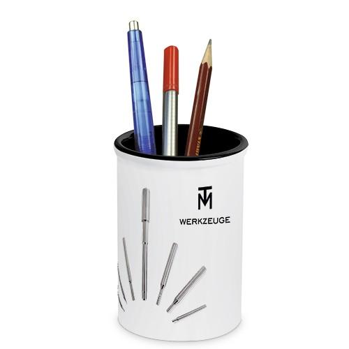 Keramikbecher, Sublistar®-Coating, Größe Ø 85 mm, Farbe Weiß/Schwarz